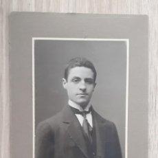 Photographie ancienne: RETRATO CABALLERO-ARTE ESTUDIO ZARAGOZA 1913. Lote 293429613