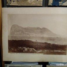 Fotografía antigua: ALBÚMINA GIBRALTAR 424 BIS VISTA GENERAL TOMADA DESDE EL CAMPAMENTO LUAURENT.. Lote 294129033