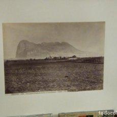 Fotografía antigua: ALBÚMINA GIBRALTAR 424 VISTA GENERAL TOMADA DESDE EL CAMPAMENTO LUAURENT.. Lote 294129433