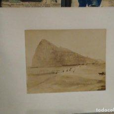 Fotografía antigua: ALBÚMINA GIBRALTAR 2852 CARRERA DE COCHES DE CABALLOS ?. Lote 294129978