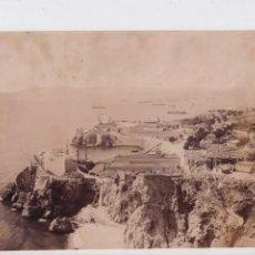 Fotografía antigua: ALBÚMINA GIBRALTAR 20,50 X 16 CM VISTA DEL PUERTO. NO FIGURA FOTÓGRAFO.. Lote 294130633