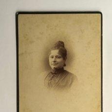 Fotografía antigua: NAPOLEÓN FOTÓGRAFO.., MADRID - BARCELONA. RETRATO SEÑORA DE NEGRO.. (H.1900?). Lote 295366863