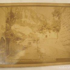 Fotografía antigua: MONTSERRAT-DESDE LA PLAZA-FOTO PUIG-FOTOGRAFIA ALBUMINA ANTIGUA-VER FOTOS-(V-22.963). Lote 295510803