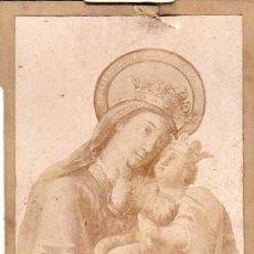 Photographie ancienne: FOTOGRAFIA NUESTRA SEÑORA DEL SOCORRO, VENERADA EN EL COLEGIO DE JESUS MARIA, VALENCIA. Lote 6082004