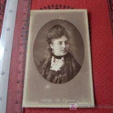 Fotografía antigua: CDV DE ADOLFO M EGUREN, VALLADOLID. Lote 18379976