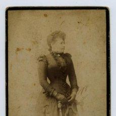 Fotografía antigua: NAPOLEON. ELEGANTE SEÑORITA FINALES S.XIX. F: ANT Y EMILIO NAPOLEON. BCN. Lote 22196272