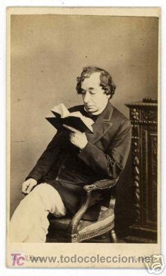 Fotografía antigua: 1860 s CDV - DISRAELI por MAYALL-London - Foto 2 - 27445816