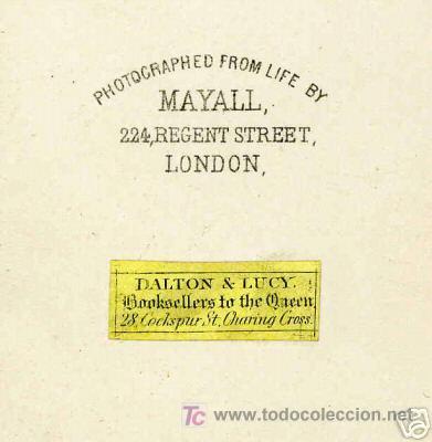 Fotografía antigua: 1860 s CDV - DISRAELI por MAYALL-London - Foto 3 - 27445816