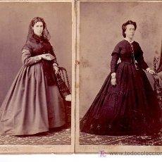 Fotografía antigua: 2 CDV DEL ESTUDIO: FOTOGRAFÍA ESPAÑOLA, BARCELONA. 1860'S. Lote 11497057