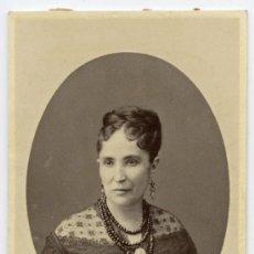 Fotografía antigua: DAMA ELEGANTÍSIMA. CIRCA 1865. F: OTERO. MADRID. Lote 26988920