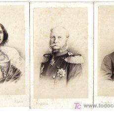Fotografía antigua: TRES CARTES DE VISITE, REYES DE PRUSIA Y OTTO VON BISMARCK. Lote 26773766