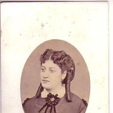 Fotografía antigua: RETRATO DE DAMA DEDICADO. FOTO DEL CONDE DE VERNAY, 1860'S. Lote 15301271