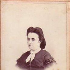 Fotografía antigua: RETRATO DE DAMA. FOT DE MARTÍ, BARCELONA. 1860'S. Lote 9320941