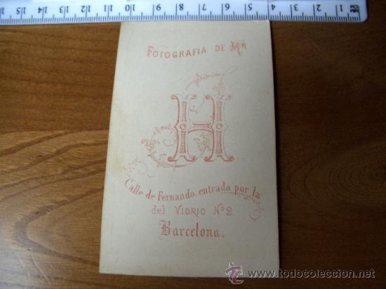 Fotografía antigua: Muy rara Fotografía de Mr HOSTENC, BARCELONA. NIÑO CON LIBROS - Foto 2 - 18222745