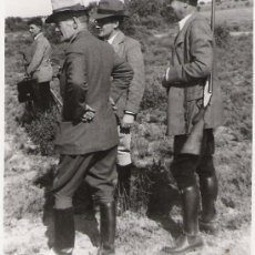 Fotografía antigua: GRUPO DE SEÑORES DE CAZERIA - S. CLEMENTE CUENCA - 23 DE OCTUBRE DE 1949 - 13.7 X 8.6 -. Lote 11571713