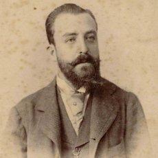 Fotografía antigua: CABALLERO. INTERESANTE FOTO DE SEÑOR. TUCUMAN. F: F. STREICH. CIRCA 1890. Lote 26084941
