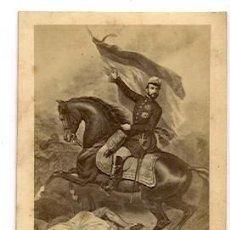 Fotografía antigua: EL GENERAL PRIM. REPRODUCCIÓN DE UNA PINTURA. CDV 1860'S SIN DATOS. Lote 17213336