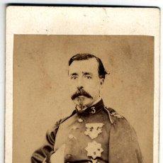 Fotografía antigua: TENIENTE CORONEL - ALBÚMINA - 1880-1895. Lote 27566275