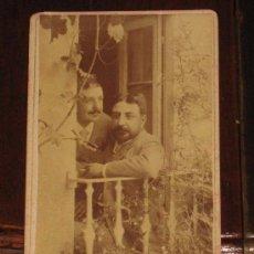 Fotografía antigua: ANTIGUA FOTOGRAFIA ALBUMINA DE PERSONAJES - EN FORMATO DE CARTES DE VISITE O DE GABINETE - SIN MARCA. Lote 17204410