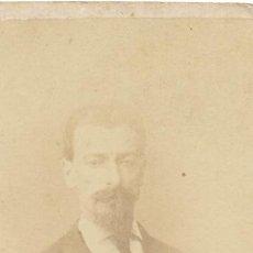Fotografía antigua: ANTIGUA FOTOGRAFIA DE JOSÉ CONTI. DEDICADA 1870. FOTO REBLINC BUENOS AIRES ARGENTINA.. Lote 18734431