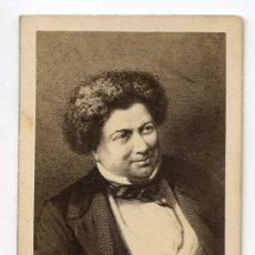 Fotografía antigua: ALEJANDRO DUMAS. CDV. CIRCA 1860. H. TOURNIER, PARIS. Lote 26875681