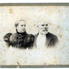Fotografía antigua: BONITA FOTOGRAFÍA DE MATRIMONIO EN SU 25 ANIVERSARIO. F: NAPOLEON. BCN. CIRCA 1890.. Lote 25579393