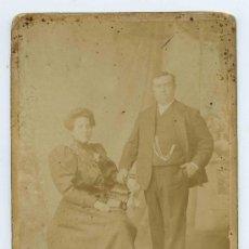 Alte Fotografie - Pareja. Matrimonio. F: J. Coyne. Zaragoza. Finales s.XIX - 23297623