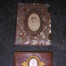 Fotografía antigua: 2 ALBUMES,CON 142 CARTES DE VISITA,1873 MONTEVIDEO -1890 HOSPITALET DEL LLOBREGAT,VER FOTG.. Lote 26434449
