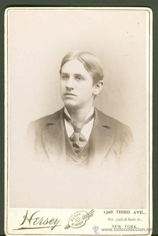 FOTOGRAFIA ANTIGUA RETRATO DE UN JOVEN . FORMATO CDV. ENTRE 1900-1920 TAMAÑO 16 X 11 CENTIMETROS (Fotografía Antigua - Cartes de Visite)