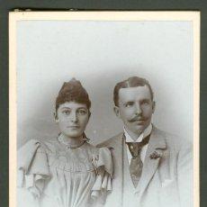 Fotografía antigua: FOTOGRAFIA ANTIGUA RETRATO DE UN MATRIMONIO FORMATO CDV. ENTRE 1900-1920 . Lote 27574575