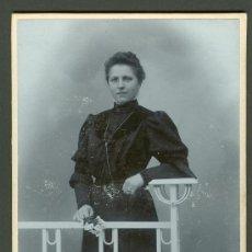 Fotografía antigua: FOTOGRAFIA ANTIGUA RETRATO DE UINA SEÑORA FORMATO CDV. ENTRE 1900-1920. Lote 27574794