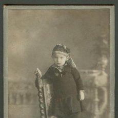 Fotografía antigua: FOTOGRAFIA ANTIGUA RETRATO DE UNA NIÑA FORMATO CDV. SIGLO XIX. Lote 27575333