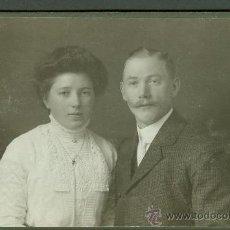 Fotografía antigua: FOTOGRAFIA ANTIGUA RETRATO MATRIMONIO FORMATO CDV. AÑO 1900-1920 . Lote 27575486