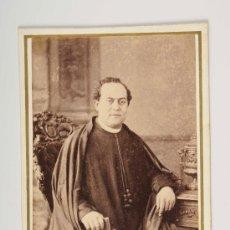 Fotografía antigua: RETRATO DE SACERDOTE, FOTO: M.FERNANDO Y ANAÏS NAPOLEON - BARCELONA. Lote 27735081