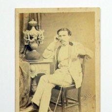 Fotografía antigua - retrato cdv de personaje, foto: pascual y jofré, blanes. - 27785678