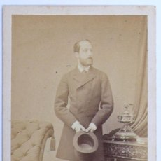 Alte Fotografie - retrato firmado y fechado. dedicado a Evaristo Arnús, 1869. Foto: Angerer, Viena. - 28563734