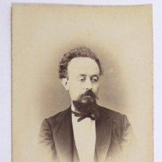 Alte Fotografie - retrato de personaje firmado y dedicado a Evaristo Arnús, foto: Cantó, Barcelona. 1860's. - 28566050