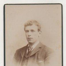 Fotografía antigua: RETRATO HOMBRE. (FOTÓGRAFO H. R. WILLET, BRISTOL.). Lote 29345085