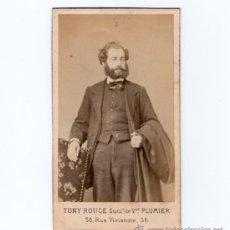 Fotografía antigua: PERSONAJE POR IDENTIFICAR, 1860'S. FOTO: TONY ROUGE, PARÍS. ÁLBUM DE JOSEP PUIG LLAGOSTERA, VER.. Lote 29431310