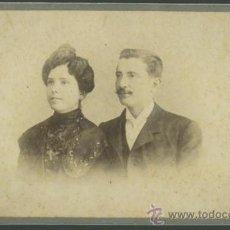 Fotografía antigua: MATRIMONIO. FOTO DE PAREJA. F: A. CAMPMANY. BCN. C. 1900. Lote 29452036