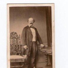 Fotografía antigua: PERSONAJE POR IDENTIFICAR, FOTO: LEFEVRE, PARÍS.. Lote 29449900