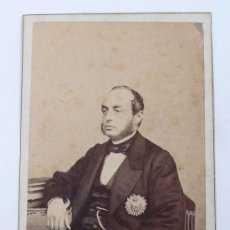 Fotografía antigua: PERSONAJE POR IDENTIFICAR, FOTO: LAURENT, MADRID. 1860'S.. Lote 29656243