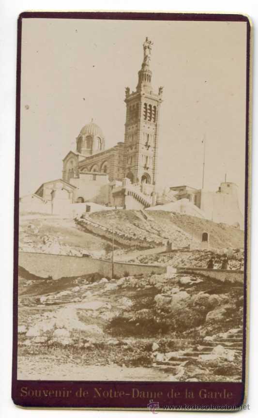 SOUVENIR DE NOTRE DAME DE LA GARDE. MARSEILLE, MARSELLA, VIRGEN. CDV (Fotografía Antigua - Cartes de Visite)