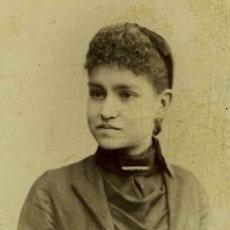 Fotografía antigua: IMPRESIONANTE FOTO DE JOVEN DAMA. BARCELONA. F: MATORRODONA. C. 1880. Lote 30515953