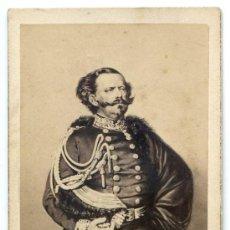 Fotografía antigua: VICTOR MANUEL II DE SABOYA, REY DE ITALIA. FOT. H. TOURNIER, PARIS. CIRCA 1870. Lote 31306519