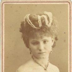 Fotografía antigua: CARTA DE VISITA/CARTE DE VISITE. CA. 1870/1890. DAMA. HERMINE GREVENBERG. Lote 31340190