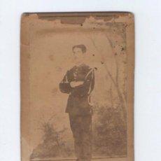 Alte Fotografie - retrato de militar dedicado en el reverso, 1860's. - 31364548