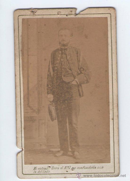 RETRATO DE MILITAR DEDICADO Y FECHADO, FOTO: CORDIGLIA, BARCELONA, 1872. (Fotografía Antigua - Cartes de Visite)