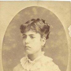 Fotografía antigua: CARTA DE VISITA/CARTE DE VISITE. CA. 1870/1890. BARCELONA. SEÑORITA. Lote 31686633