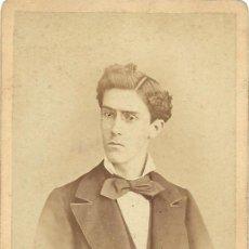 Fotografía antigua: CARTA DE VISITA/CARTE DE VISITE. FOT. PARTAGAS. CA.1870/1890. BARCELONA. JOVEN. Lote 31760711